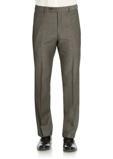 Calvin Klein Classic-Fit Flat-Front Wool Suit Separate Pants