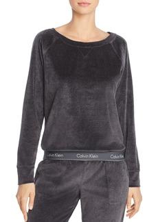 Calvin Klein Modern Velour Lounge Sweatshirt
