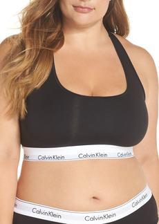 Calvin Klein ModernCotton Blend Racerback Bralette (Plus Size)