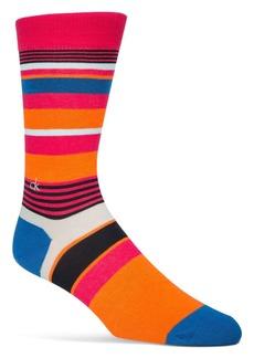 Calvin Klein Multistripe Logo Crew Socks