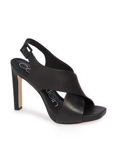 Calvin Klein Myra Cross Strap Sandal (Women)