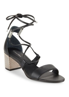 Calvin Klein Natania Leather Sandals