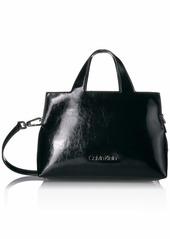 Calvin Klein Neat Glazed Patent Statement Satchel
