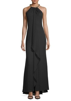 Calvin Klein Necklace Halter Gown