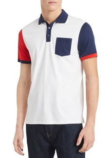 Calvin Klein New Essentials Liquid Touch Regular-Fit Colorblock Cotton Polo