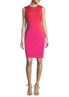 New Wave Colorblocked Scuba Dress
