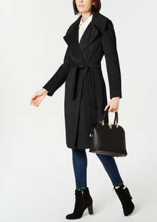 Calvin Klein Notch-Collar Wrap Coat