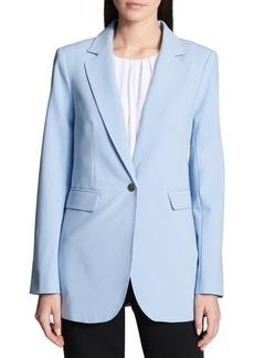 Calvin Klein Notch Lapel Long Jacket