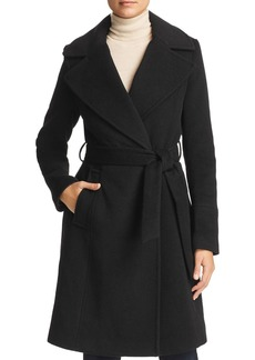 Calvin Klein Notched Collar Wrap Coat
