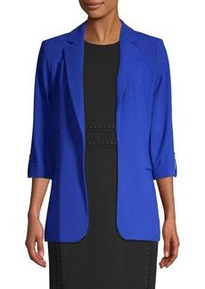 Calvin Klein Notched Open-Front Blazer