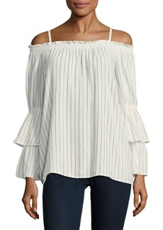 Calvin Klein Off Shoulder Layered Sleeves Blouse