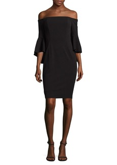 Calvin Klein Off-The-Shoulder Bell Dress