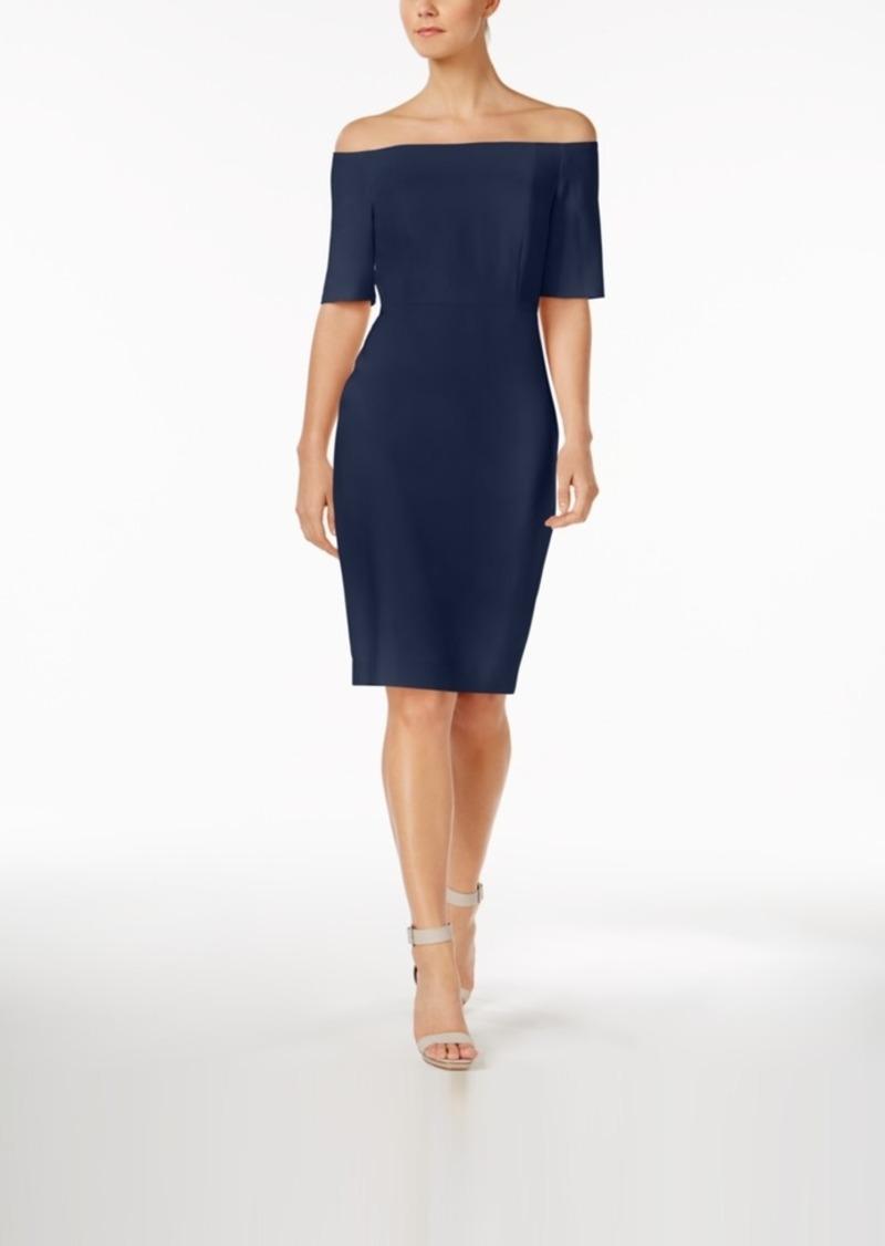 Calvin Klein Calvin Klein Off The Shoulder Crepe Dress