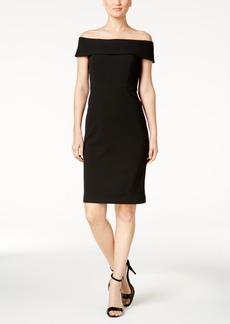 Calvin Klein Off-The-Shoulder Dress, Regular & Petite Sizes