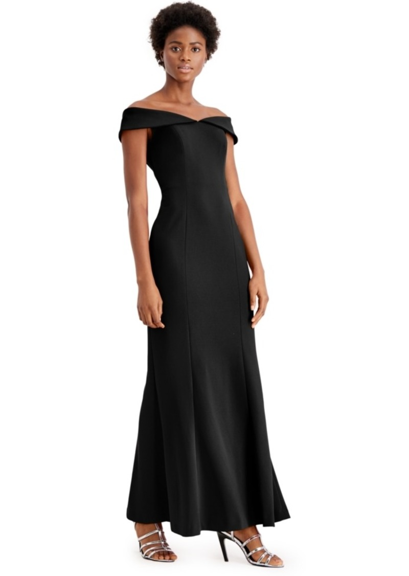 Calvin Klein Off-The-Shoulder Gown