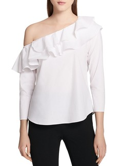 Calvin Klein Off-the-Shoulder Three-Quarter Sleeve Top