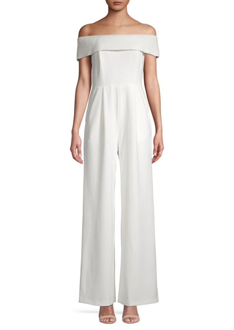 Calvin Klein Off-the-Shoulder Wide-Leg Jumpsuit