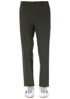 Calvin Klein Olive Cotton Gabardine Pants