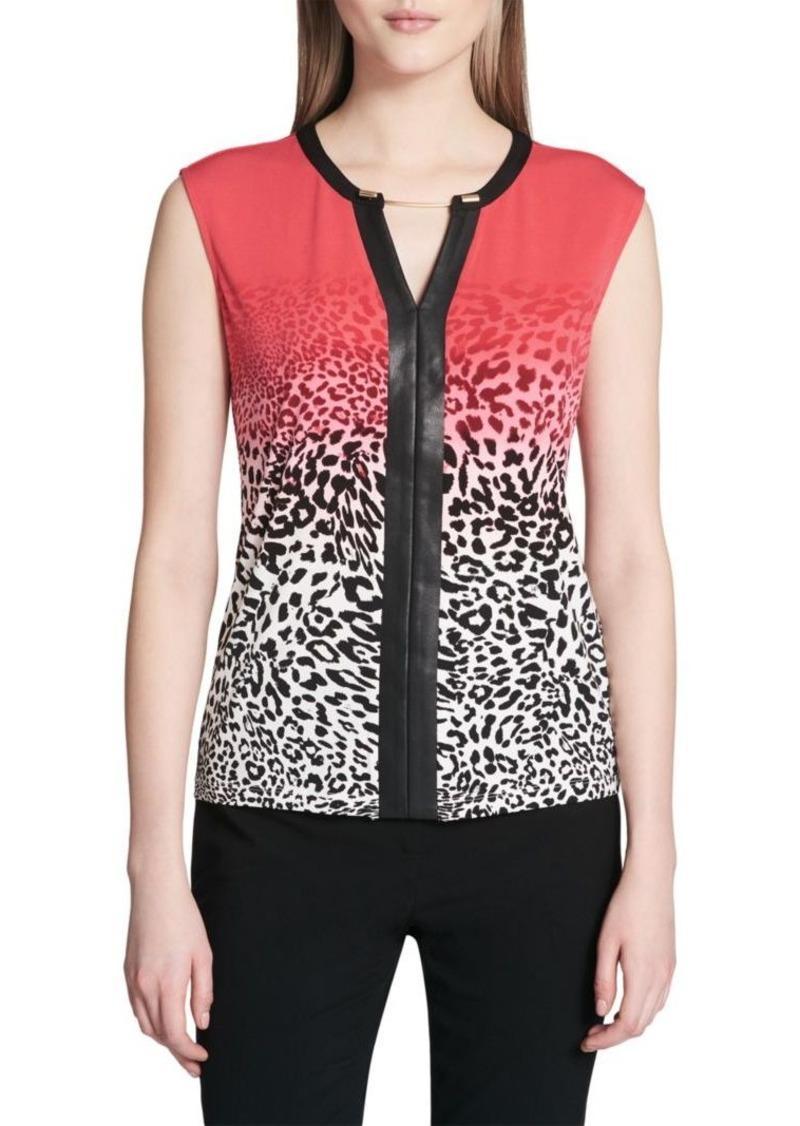 Calvin Klein Ombre Cheetah-Print Top
