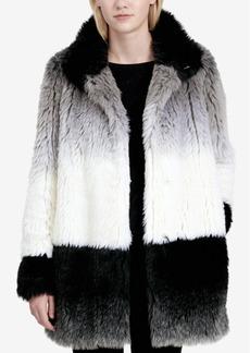 Calvin Klein Ombre Faux-Fur Coat