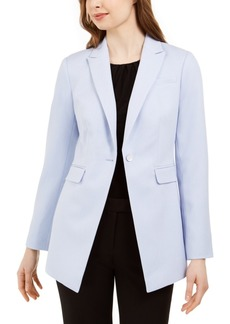 Calvin Klein One-Button Twill Blazer