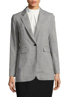 CALVIN KLEIN One-Buttoned Patterned Jacket