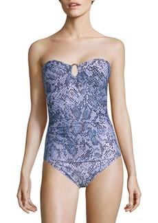 Calvin Klein One-Piece Ruched Swimsuit