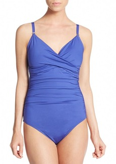 Calvin Klein One-Piece Ruched Swimsuit
