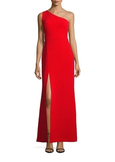 Calvin Klein One-Shoulder Ankle-Length Dress