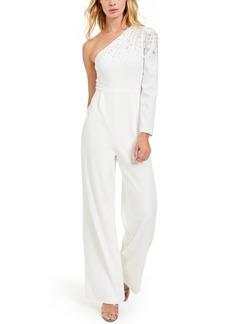 Calvin Klein One-Shoulder Bling Jumpsuit