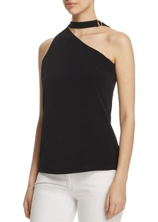 Calvin Klein One Shoulder Choker Top
