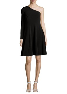 Calvin Klein One-Shoulder Fit-&-Flare Dress