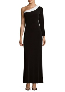 Calvin Klein One-Shoulder Jersey Dress