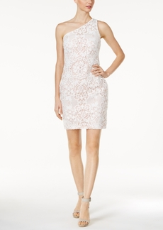 Calvin Klein One-Shoulder Lace Sheath Dress