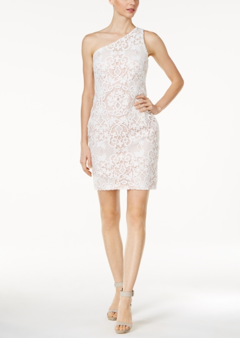 678ad204ea76 Calvin Klein One-Shoulder Lace Sheath Dress