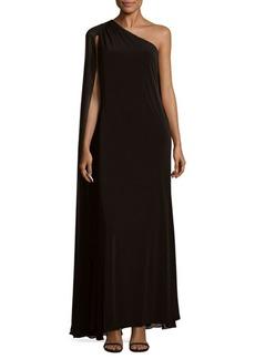 Calvin Klein One-Shoulder Long Dress