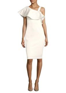 Calvin Klein One-Shoulder Ruffle Bodycon Dress