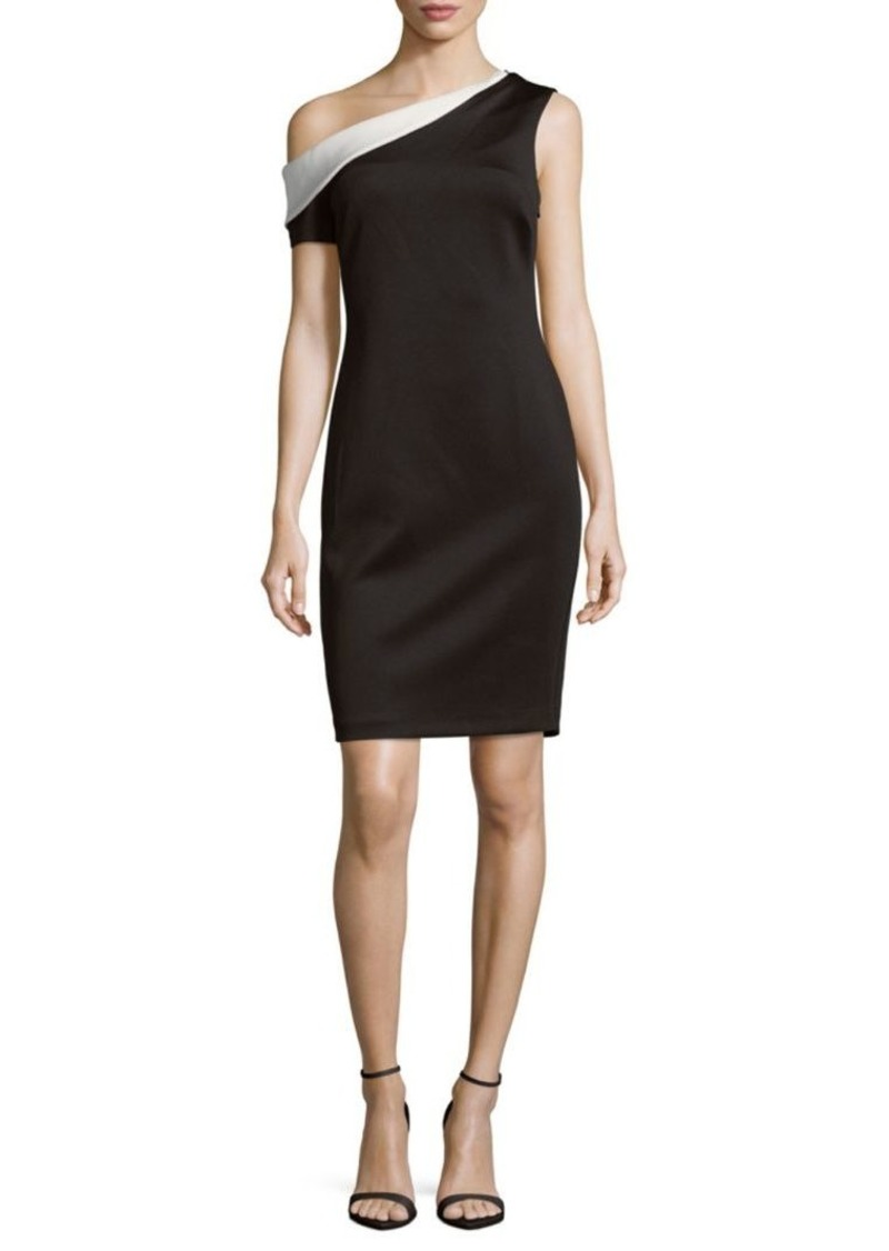 6e5c221e SALE! Calvin Klein One-Shoulder Sheath Dress