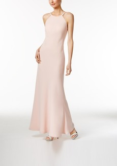 Calvin Klein Open-Back Halter Gown