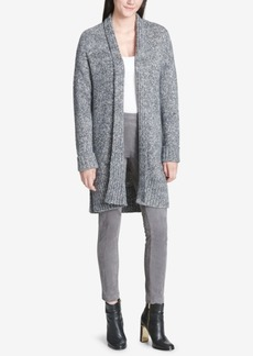 Calvin Klein Open-Front Long Cardigan