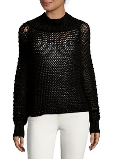 Calvin Klein Open-Knit Turtleneck Sweater