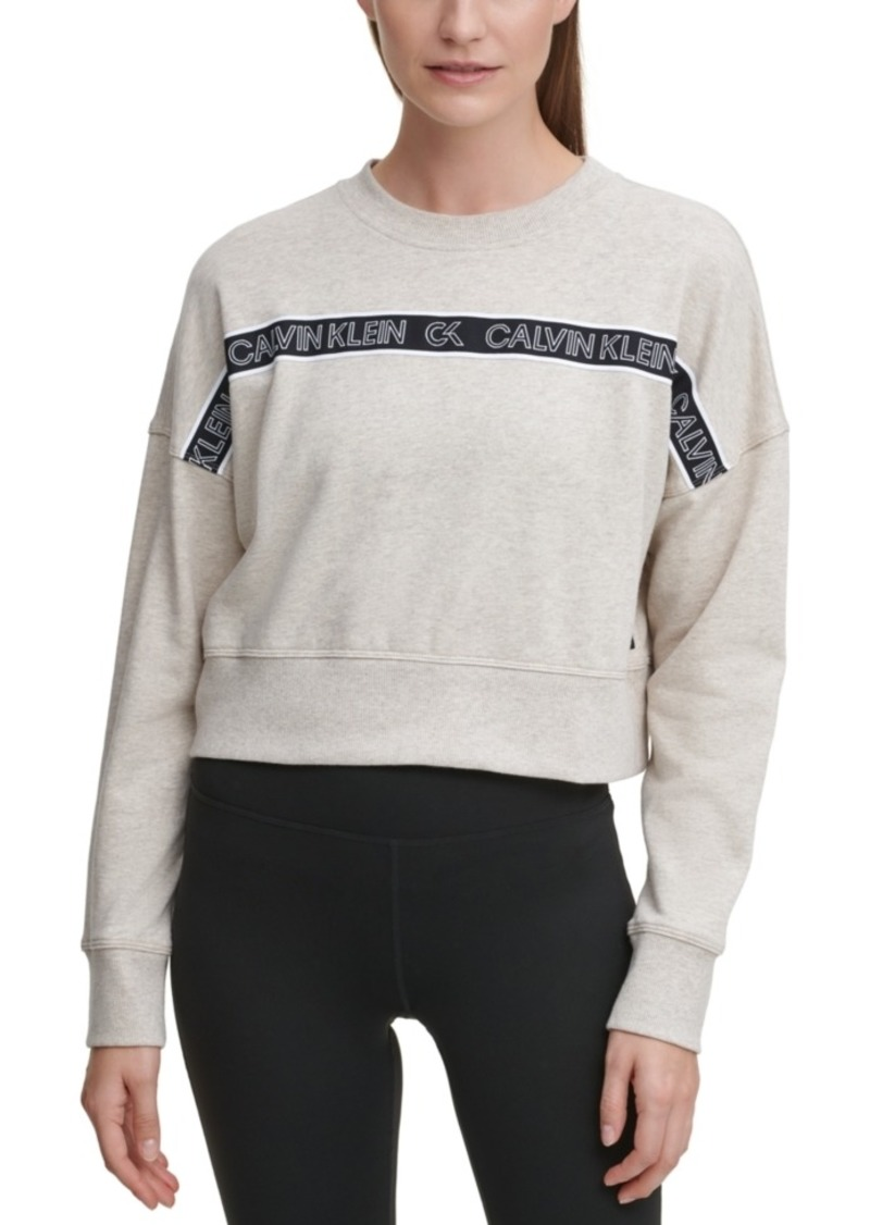 Calvin Klein Performance Outline Logo Tape Sweatshirt