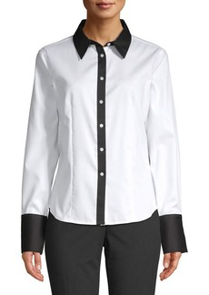Calvin Klein Oxford Cotton Blouse
