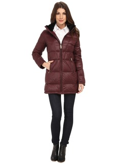 Calvin Klein Packable Down Walker Coat with Velvet Collar