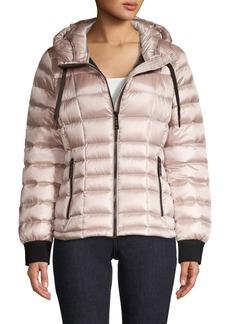 Calvin Klein Packable Hooded Puffer Down Coat