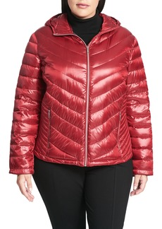 Calvin Klein Packable Quilted Down Jacket (Plus Size)