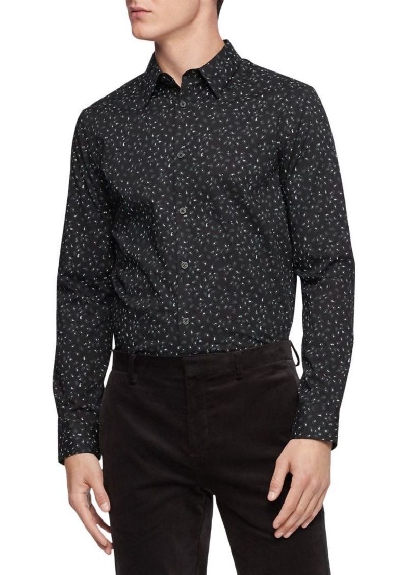 Calvin Klein Paisley Dot Button-Down Shirt