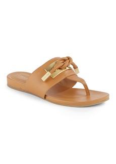 Calvin Klein Parson Leather Thong Sandals