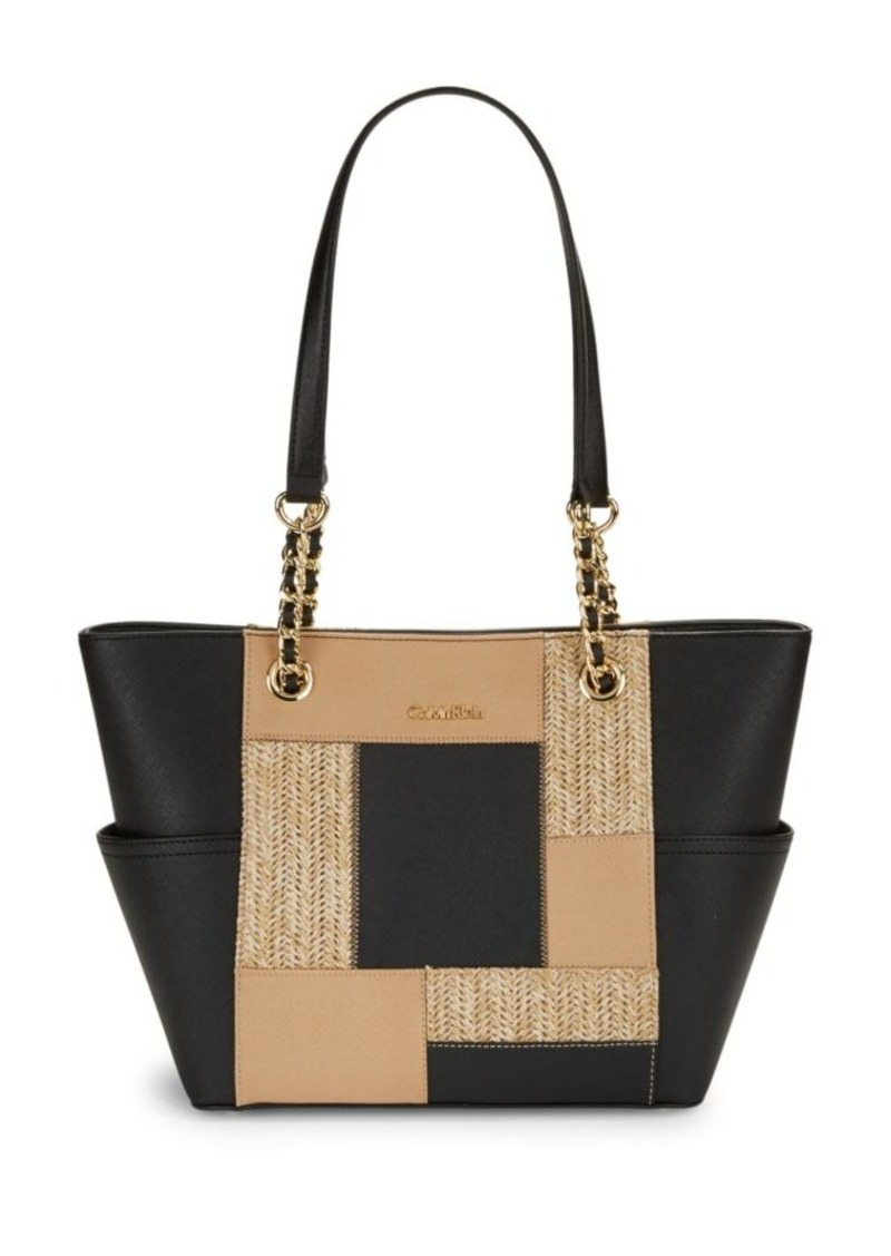 Calvin Klein Patchwork Leather Tote