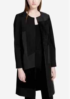 Calvin Klein Patchwork Open-Front Topper Jacket